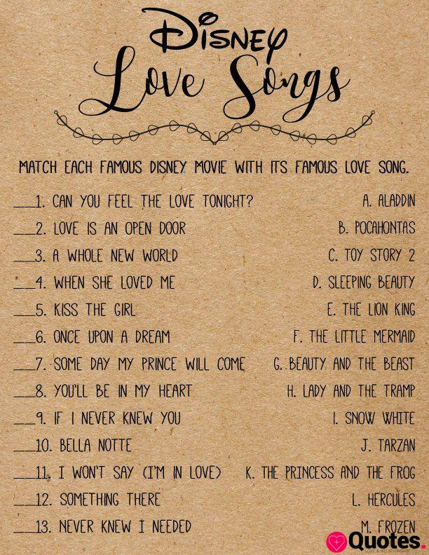 28 Love Song Quotes Jeux De Douche Nuptiale Disney Love Songs Telechargement Instantane Imprimable Rustic Kraf Love Quotes Daily Leading Love Relationship Quotes Sayings Collections