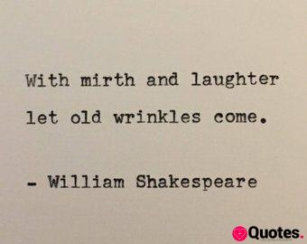 William Shakespeare Romeo and Juliet quote typed on typewriter - unique gift