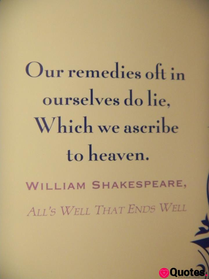All's Well That Ends Well - Shakespeare