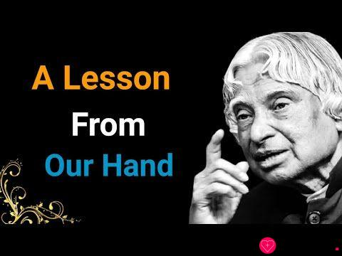 A Lesson From Our Hand    Dr APJ Abdul Kalam Sir Quotes    Whatsapp Quotes    Spread Positivity
