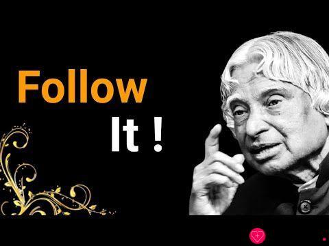 Follow It    Dr APJ Abdul Kalam Sir Quotes    Whatsapp Status Quotes    Spread Positivity
