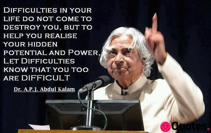 Inspirational quotes by Kalam