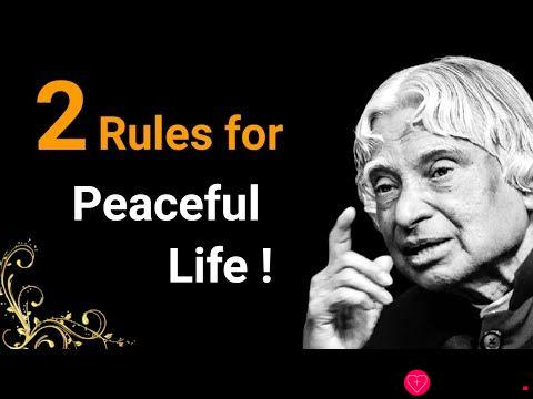 Two Rules for peaceful Life || Dr APJ Abdul Kalam Sir Quotes || Whatsapp Quotes || Spread Positivity