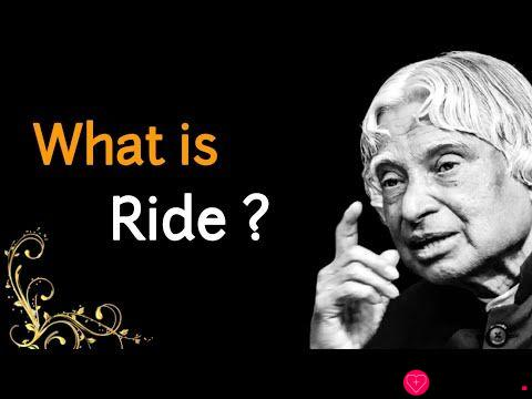 What is Ride ? || Dr APJ Abdul Kalam Sir Quotes || Whatsapp Quotes || Spread Positivity